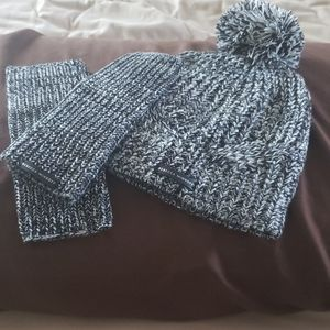 Rebecca Minkoff Hat and Arm Warmers